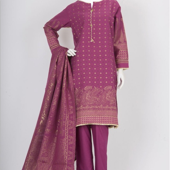 Dresses Pakistani Designer Junaid Jamshed Kurta 3 Pc Set Poshmark